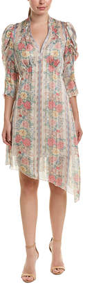 Anna Sui Whisper Rose Shift Dress