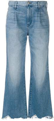 3x1 flared distressed jeans