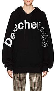 "R 13 Women's ""Depeche Mode"" Cotton-Blend Hoodie - Black"