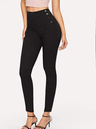 Shein Button Side Jeggings
