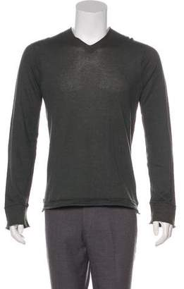 Inhabit Woven V-Neck Sweater