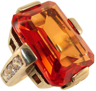 One Kings Lane Vintage 1960s Sterling Citrine Geometric Ring - Neil Zevnik