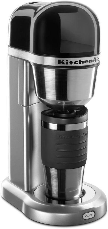 KitchenAid 4-Cup Coffee Maker with Multifunctional Thermal Mug in Contour Silver