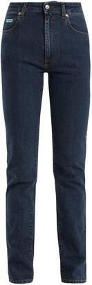 ALEXACHUNG High-rise straight leg jeans