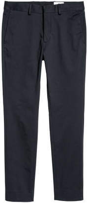 H&M Cotton Twill Chinos - Blue