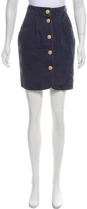 Steven Alan Button-Accented Knee-Length Skirt