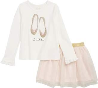 Kate Spade Dance Till Dawn Tee And Skirt Set