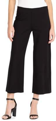 Chaps Women's Crop Wide-Leg Ponte Pants