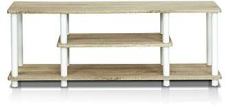 Furinno 12250R1OK/WH Turn-N-Tube No Tools 3D 3-Tier Entertainment TV Stands