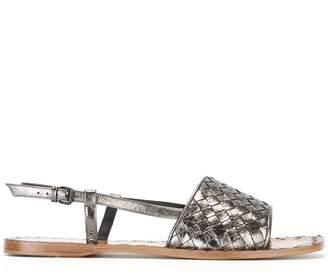 Bottega Veneta woven open toe sandals