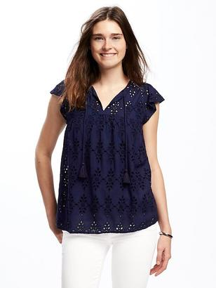 Cutwork Swing Top for Women $34.94 thestylecure.com
