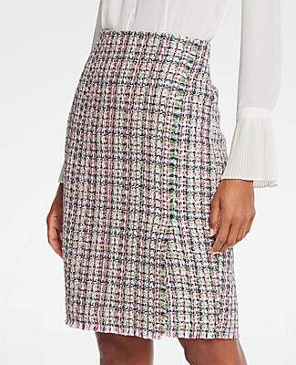 Ann Taylor Petite Tweed Wrap Pencil Skirt