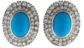Ben-Amun Crystal & Resin Stud Earrings