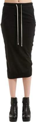 Rick Owens Drkshdw Cotton Jersey Pencil Skirt