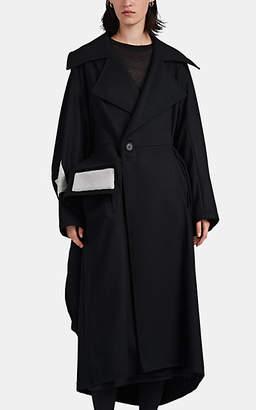 Yohji Yamamoto Women's Cube Wool Melton Coat - Black