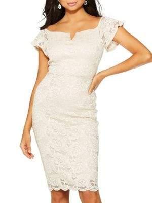 Quiz Off-The-Shoulder Lace Dress
