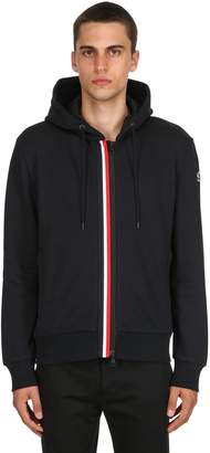 Moncler Stripes Zip-Up Cotton Sweatshirt Hoodie