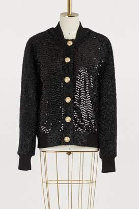 Balmain Strass bomber jacket