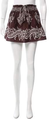 Warm Printed Mini Skirt