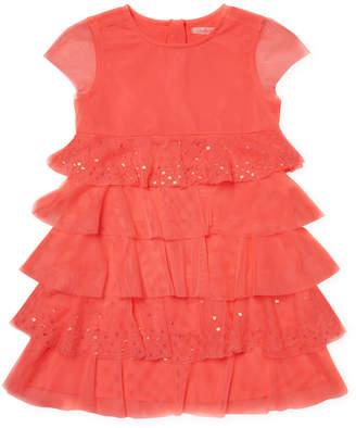 Billieblush Crewneck Sequined Dress