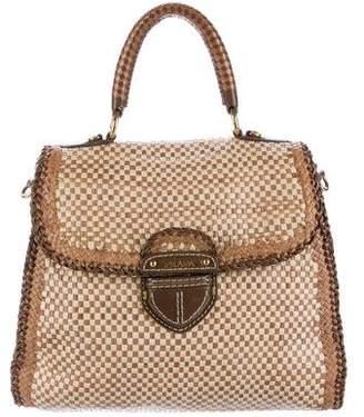 Prada Woven Madras Flap Bag