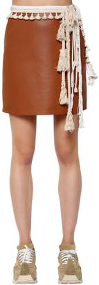 Loewe Nappa Leather Mini Skirt W/ Rope Details