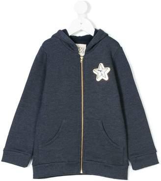 Douuod Kids star patch hooded sweatshirt