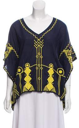 Figue Embroidered Box Top