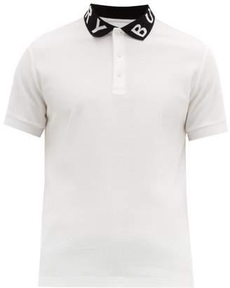 8c9ca897 Burberry Ryland Logo Jacquard Cotton Pique Polo Shirt - Mens - White