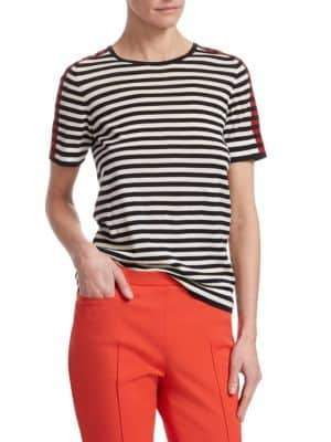 Akris Punto Striped Wool T-Shirt