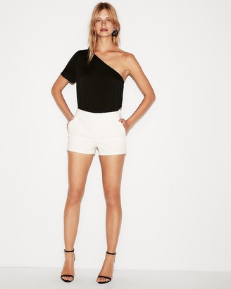 Express Mid Rise Cotton-Blend Shorts