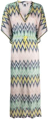 M Missoni chevron printed maxi dress