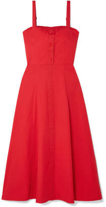 DAY Birger et Mikkelsen STAUD - Penny Cotton-blend Poplin Midi Dress - Red