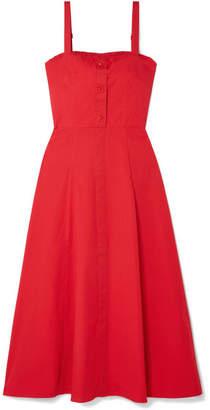 DAY Birger et Mikkelsen STAUD - Penny Cotton-blend Poplin Midi Dress - Red
