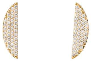 Lana 14K Pavé Diamond Eclipse Earrings