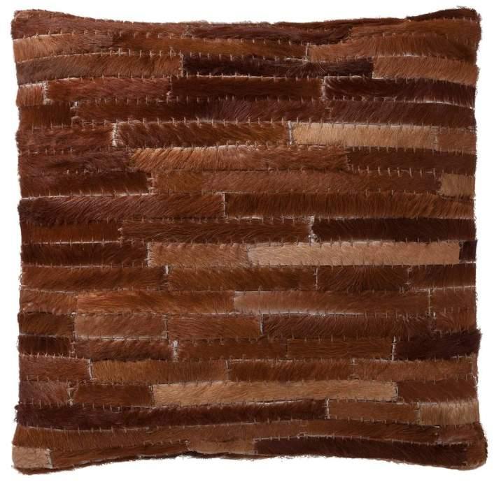 housse de coussin poils cuir de vache oslo marron aiment france. Black Bedroom Furniture Sets. Home Design Ideas