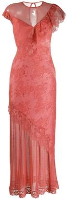 Three floor Mirage lace maxi dress
