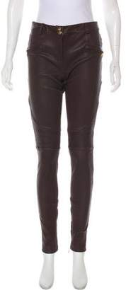 Rebecca Vallance Mid-Rise Leather Pants