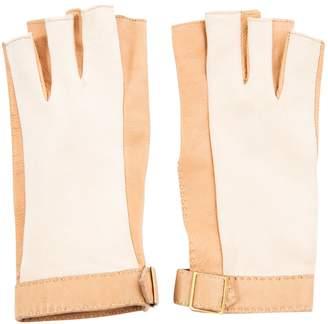 Hermes Vintage Camel Leather Gloves