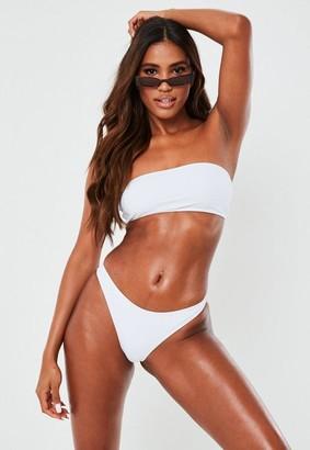 Missguided White Mix And Match Bandeau Bikini Top