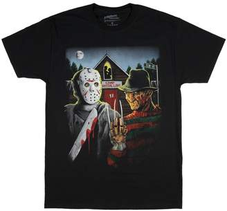 Freddy Fashion A Nightmare on Elm Street Krueger & Jason Graphic T-Shirt
