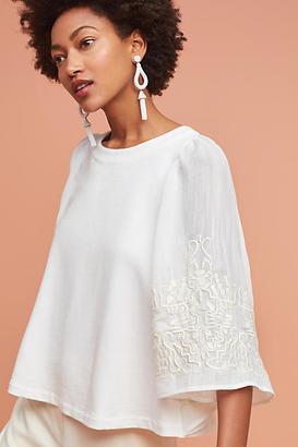 Eri + Ali Embroidered Poncho Pullover $78 thestylecure.com