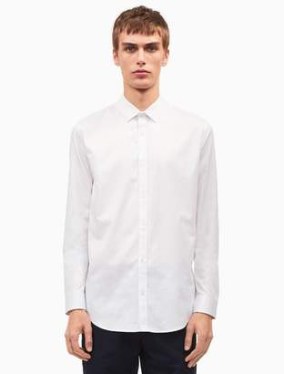 Calvin Klein classic fit solid sateen shirt