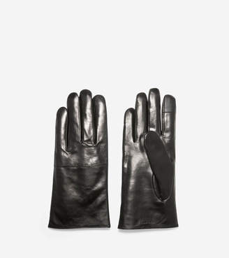 Cole Haan Leather Gloves with Horizontal Point