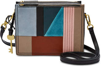 Fossil Campbell Patchwork Leather & Suede Crossbody