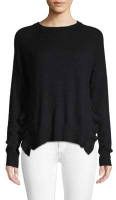 Autumn Cashmere Ruffle-Trimmed Cashmere Sweater