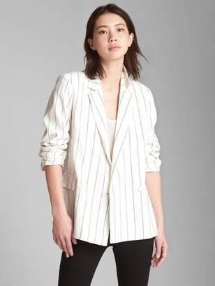 Gap Stripe Linen Blazer