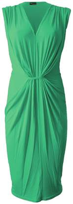 Roland Mouret Fashions New Womens Ruched Celeb Stretch Bodycon V-Neck Knee Length Ladies Party Dress