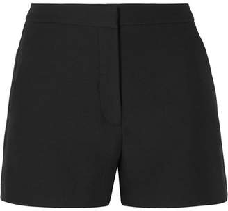 Valentino Wool And Silk-blend Crepe Shorts - Black