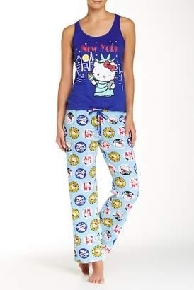 Hello Kitty Addicted To Travel Pajama Set $45 thestylecure.com